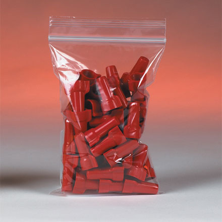"""5"""" x 5"""" 2 Mil. Zip Top Bags 1000/Case"""