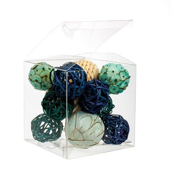 """5"""" x 5"""" x 5"""" Crystal Clear Cube Boxes (25 Pieces)"""