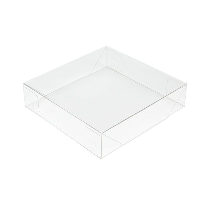 """4 3/16"""" x 1"""" x 4 5/16"""" Clear Collapsible Box Top (25 Pieces)"""