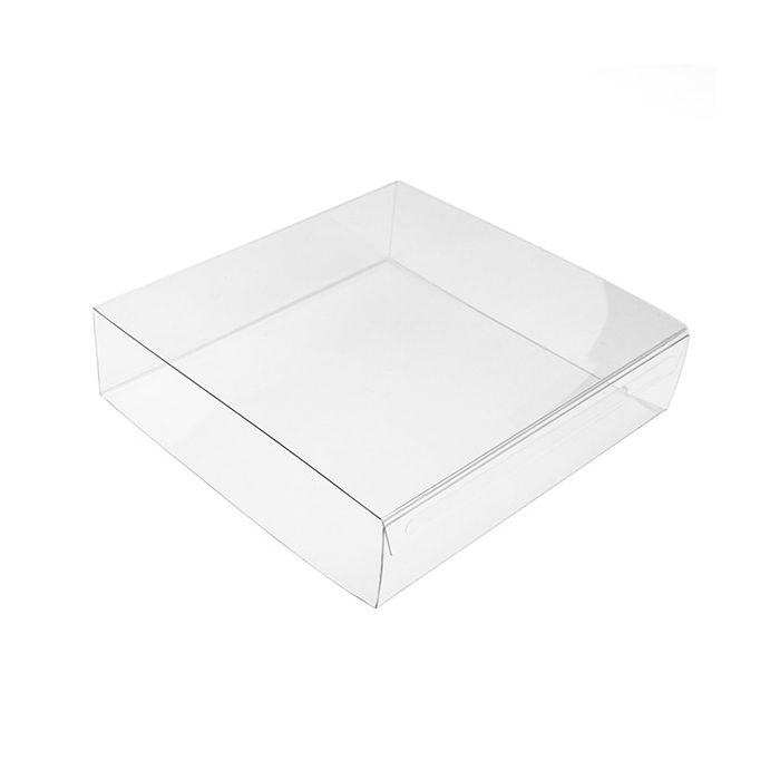 """4 3/16"""" x 1 1/16"""" x 4 1/4"""" Crystal Clear Box Slip Cover (25 Pack)"""