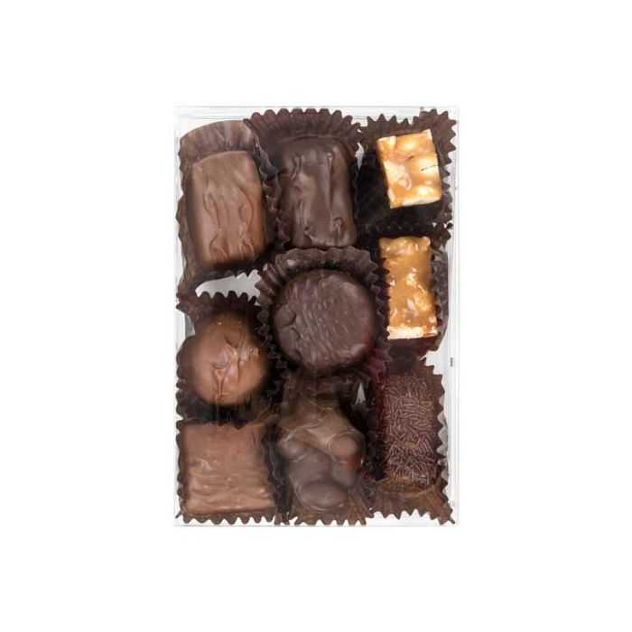 "4 1/8"" x 1"" x 6 1/8"" Chocolate Box with Insert (100 Sets)"