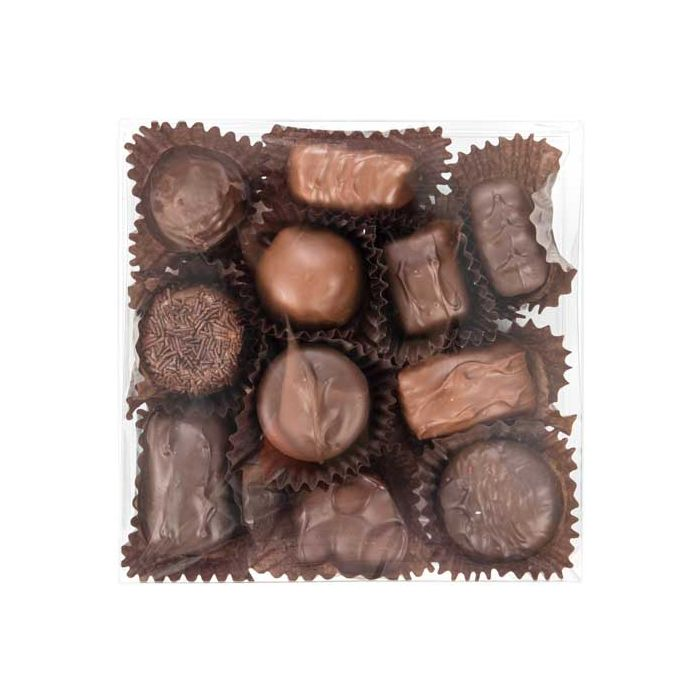"""5 5/8"""" x 1"""" x 5 9/16"""" Chocolate Box with Insert (100 Pieces)"""