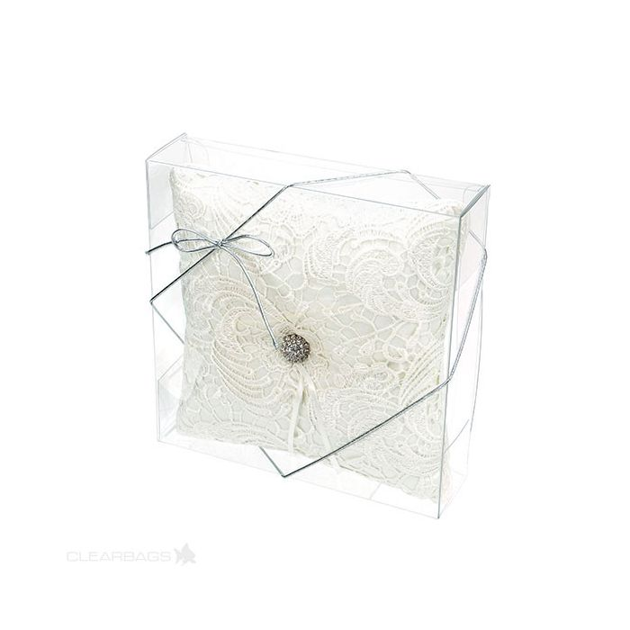 """7 11/16"""" x 2"""" x 7 1/2"""" Crystal Clear Boxes (25 Pieces)"""