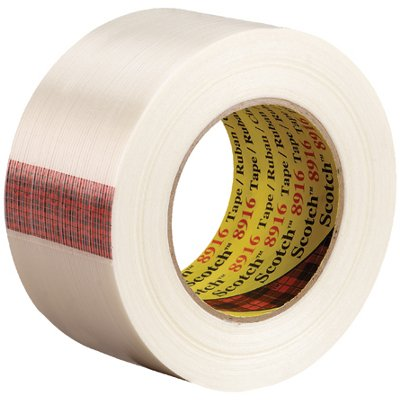 """2"""" x 60 Yards 3M 8916 Strapping Tape 12 Rolls/Case"""