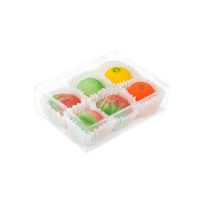 "2 5/8"" x 1"" x 3 9/16"" Chocolate Box with Insert  (100 pack)"