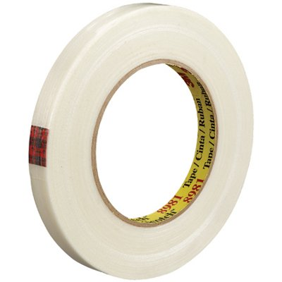 """1/2"""" x 60 Yards 3M 8981 Strapping Tape 12 Rolls/Case"""