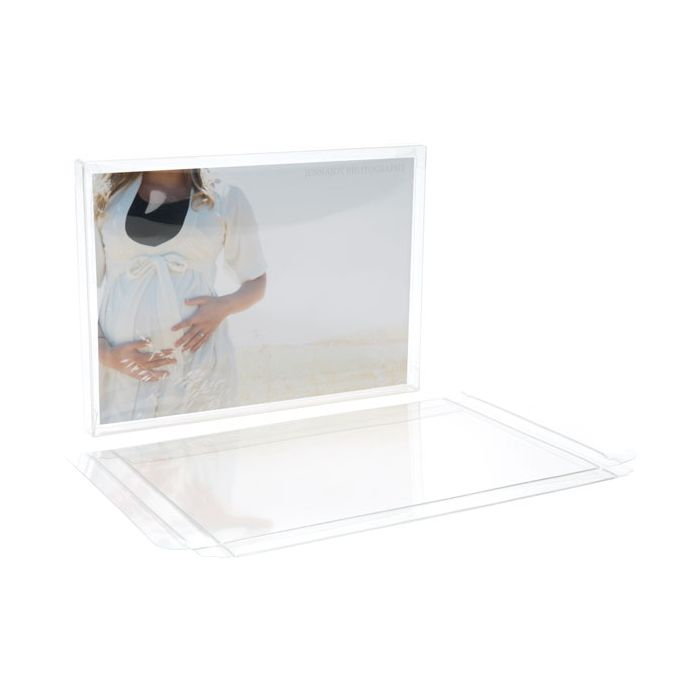 """5 3/8"""" x 1/2"""" x 7 3/8"""" A7/Lee Soft Fold Clear Boxes (25 Pieces)"""