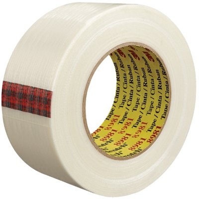 """2"""" x 60 Yards 3M 8981 Strapping Tape 12 Rolls/Case"""