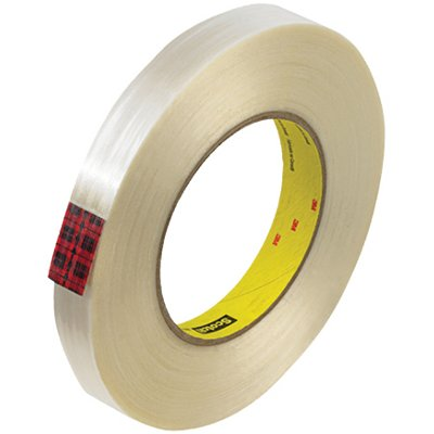 """3/4"""" x 60 Yards 3M 890MSR Strapping Tape 12 Rolls/Case"""