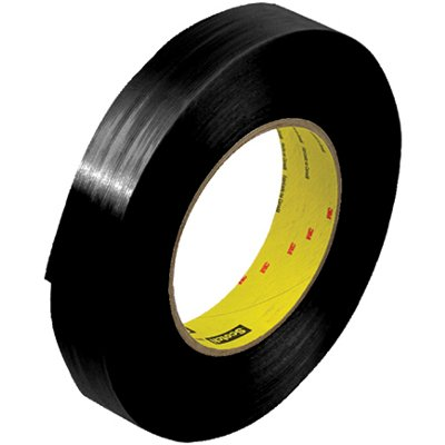 """1"""" x 60 Yards 3M 890MSRB Black Strapping Tape 12 Rolls/Case"""