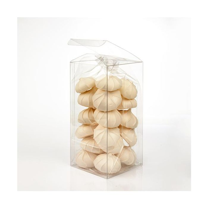 """4"""" x 4"""" x 8"""" Soft Fold Clear Boxes (25 Pieces)"""