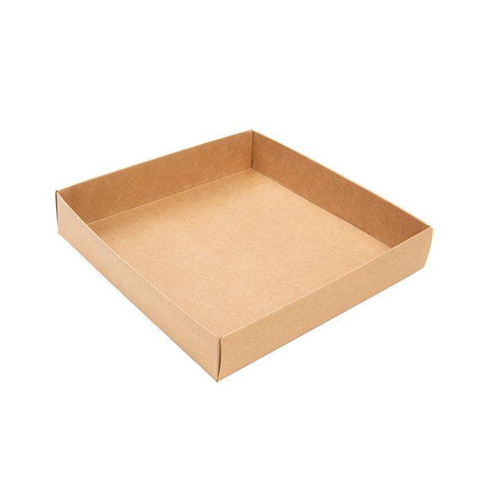 "5 1/8"" x 1"" x 5 1/4"" Kraft Paper Box Bottom (25 Pieces)"