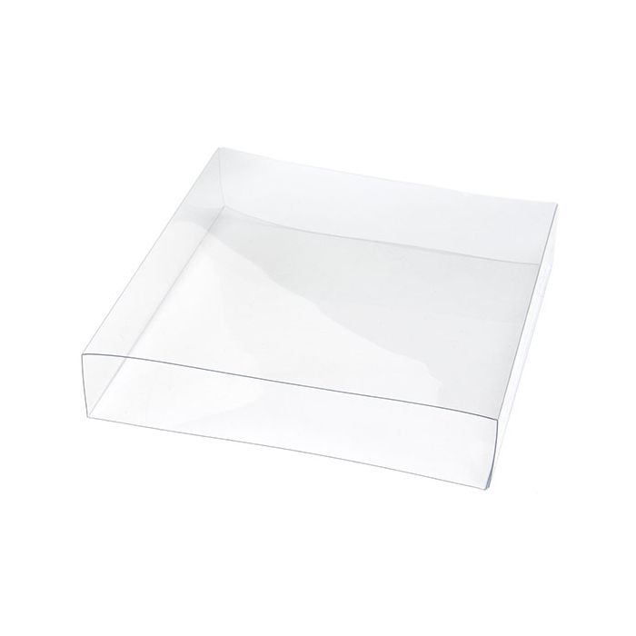 """5 3/16"""" x 1 1/16"""" x 5 1/4"""" Crystal Clear Box Slip Cover (25 Pieces)"""
