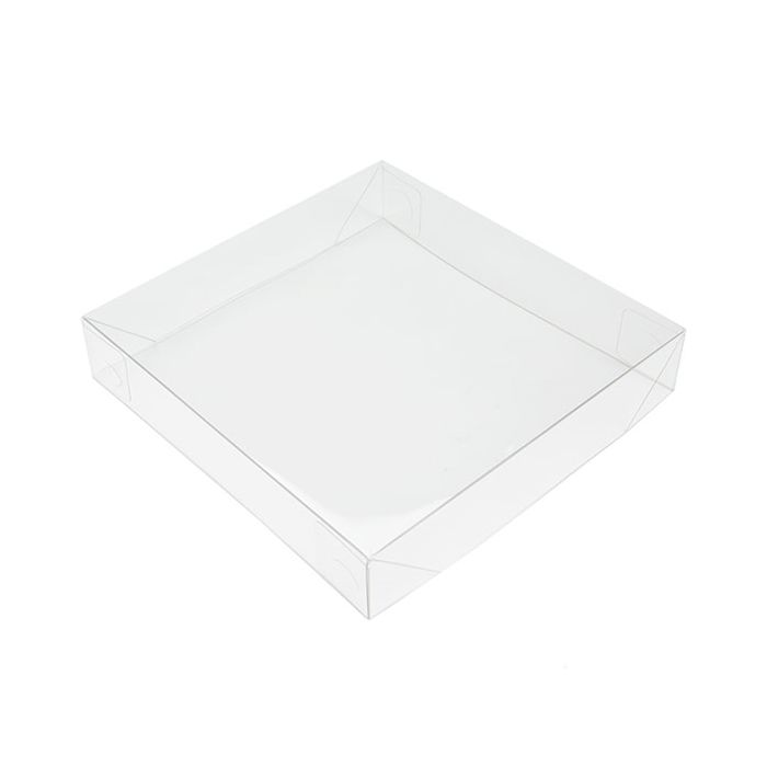 """5 3/16"""" x 1"""" x 5 5/16"""" Clear Collapsible Box Top (25 Pieces)"""