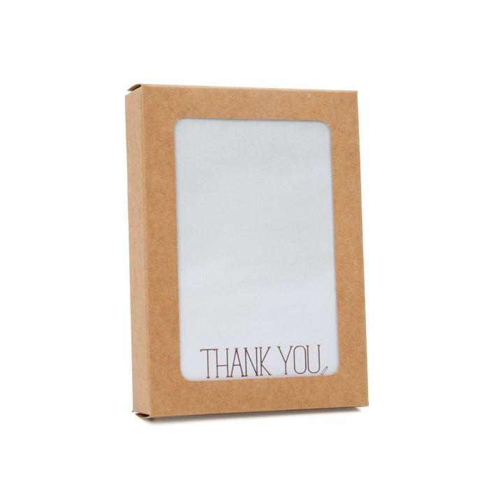 "3 3/4"" x 7/8"" x 5 3/16"" 4 Bar/A1 Kraft Paper Window Box with Attached PET Sheet  (25 Pieces)"