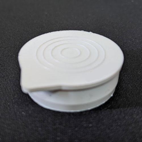 """1 1/4"""" White Packaging Tube Cap"""