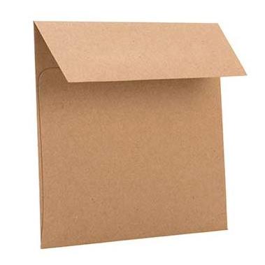 Brown Bag Envelopes, 5 x 5 square (50 pack)