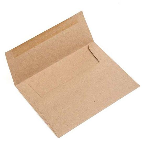 Brown Bag Envelopes, A2/5.5 Bar 5 3/4 x 4 3/8 (50 pack)
