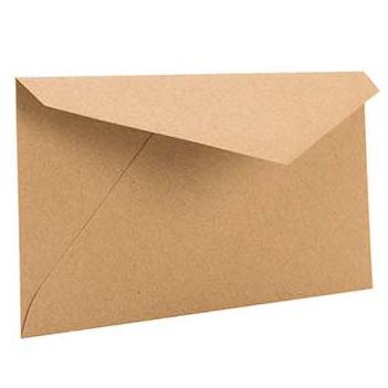 "Monarch 7 1/2"" x 3 7/8"" Brown Bag Envelopes (50 Pieces)"