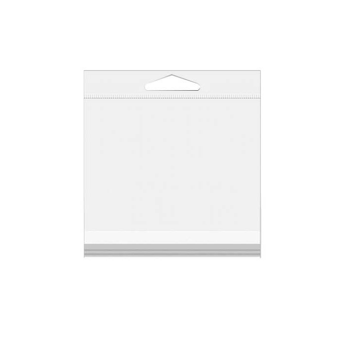 """7 3/16"""" x 7 1/16"""" Crystal Clear Hanging Bags 100/Pack"""