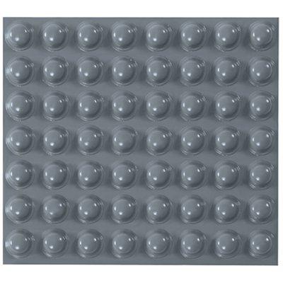 "7/16 x 13/64"" 3M Bumpon Gray Dome Protective Tape 3000/Case"
