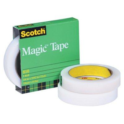 "3/4"" x 72 Yards Scotch 810 Magic Tape (Permanent) 12 Rolls/Case"