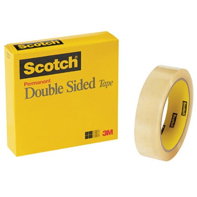 """1"""" x 36 Yards Scotch 665 Double Sided Tape (Permanent) 12 Rolls/Case"""