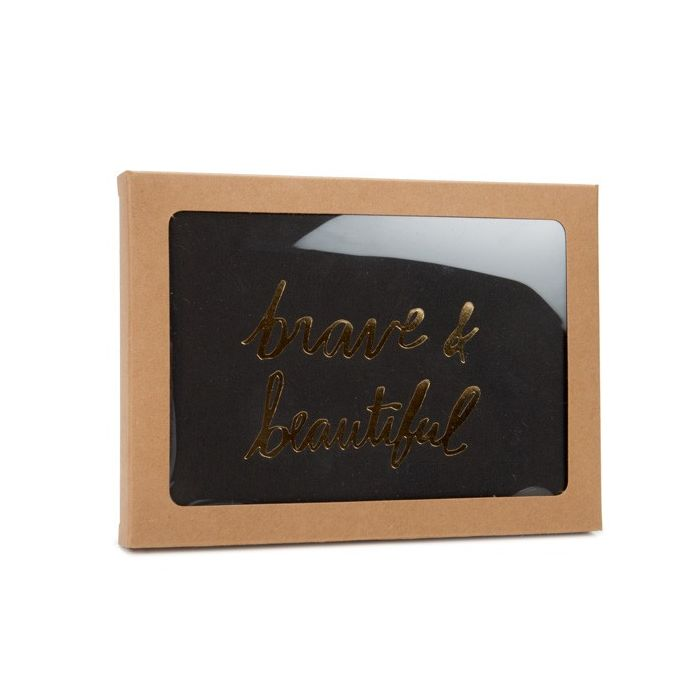 "4 7/8"" x 5/8"" x 6 5/8"" A6/6Bar Kraft Paper Window Box with Attached PET Sheet (25 Pieces)"