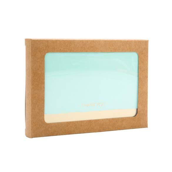 "3 3/4"" x 5/8"" x 5 3/16"" 4 Bar/A1 Kraft Paper Window Box with Attached PET Sheet (25 Pieces)"