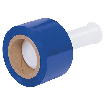 """3"""" x 80 Ga x 1000' Blue Bundling Stretch Film 18 Rolls/Case"""