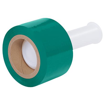 """3"""" x 80 Ga x 1000' Green Bundling Stretch Film 18 Rolls/Case"""