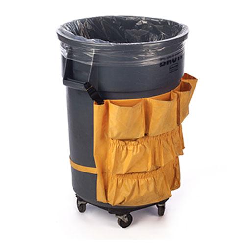 """25"""" x 17"""" x 48"""" 56 Gallon 4 Mil. Clear Trash Bags 50 Bags/Case"""