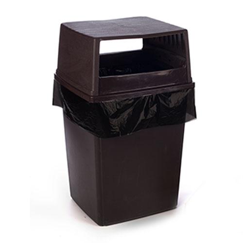 """25"""" x 17"""" x 48"""" 56 Gallon 3 Mil. Clear Trash Bags 100 Bags/Case"""