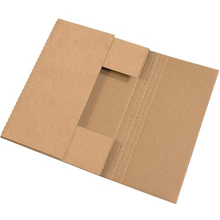 15 x 11 1/8 x 1/2, 1, 1 1/2, 2  Kraft Bookfold 50/Bundle