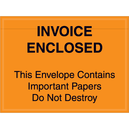 """7"""" x 6"""" Red """"Important Papers"""" Packing List Envelopes 1000/Case"""
