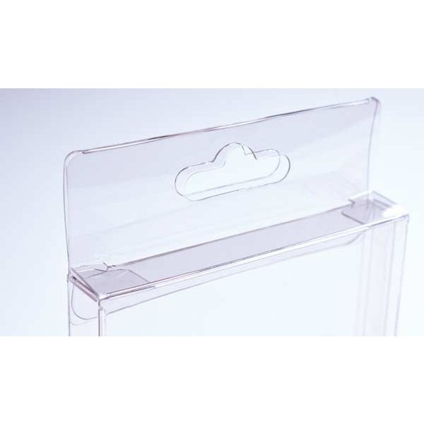 """4 1/2"""" x 1"""" x 5 7/8"""" Crystal Clear Hanging Box (25 Pieces)"""