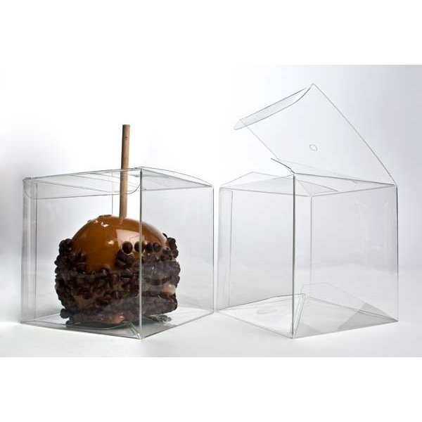 """4"""" x 4"""" x 4"""" Candy Apple Box (hole top) (25 Pieces)"""