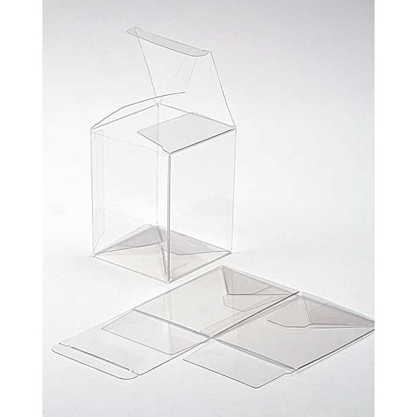 """6 1/4"""" x 5 1/2"""" x 7 5/8"""" Crystal Clear Pop & Lock Boxes (25 Pieces)"""