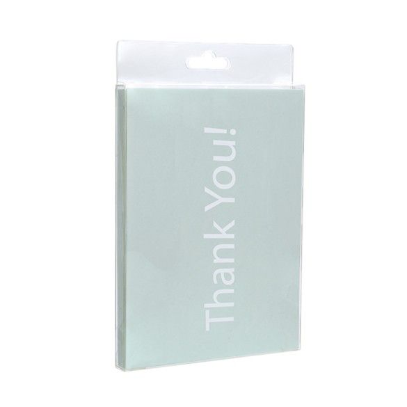"""5 3/8"""" x 5/8"""" x 7 3/8"""" Crystal Clear Hanging Box (25 Pieces)"""