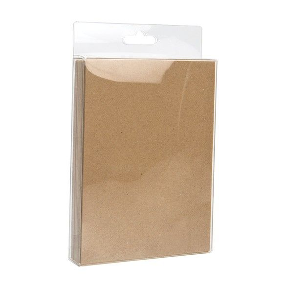 """4 7/8"""" x 1"""" x 6 5/8"""" Crystal Clear Hanging Box (25 Pieces)"""