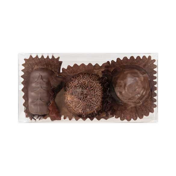 "2 1/8"" x 1 3/8"" x 4 1/4"" Truffle Box with Insert (100 Pieces)"