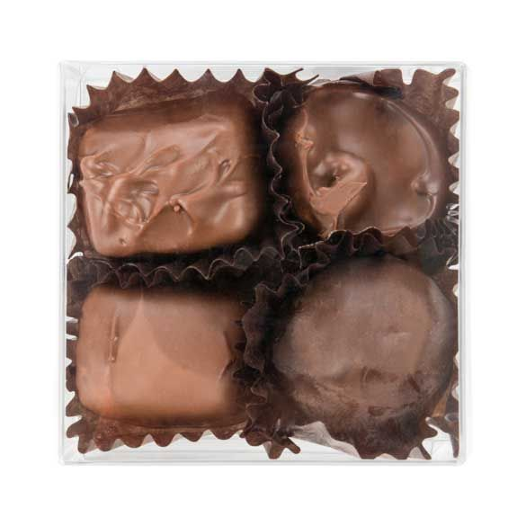 """2 3/4"""" x 1 7/16"""" x 2 3/4"""" Chocolate Box with Insert (100 Pieces)"""
