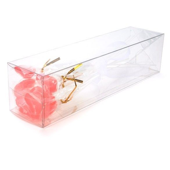 """3"""" x 3"""" x 12"""" Crystal Clear Pop & Lock Boxes (25 Pieces)"""