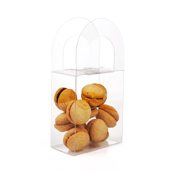 """4"""" x 2 1/4"""" x 4 5/8"""" Crystal Clear Handle Box (25 Pieces)"""