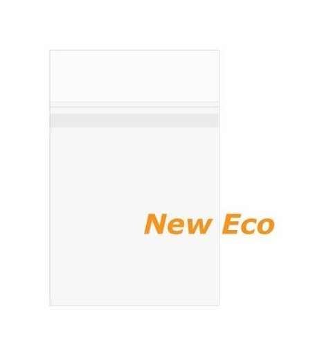 "8 7/16"" x 10 1/4"" + Flap, Premium Eco Clear Protective Closure Bags (100 Pieces)"