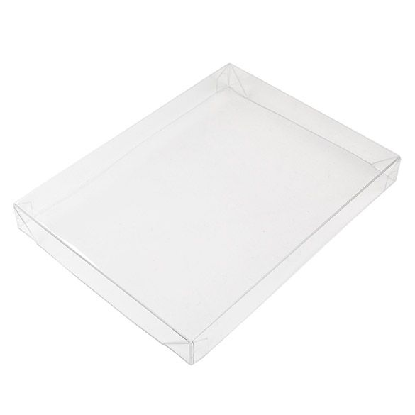 """4 9/16"""" x 5/8"""" x 6 1/16"""" Crystal Clear Collapsible Box Top (25 Pieces)"""
