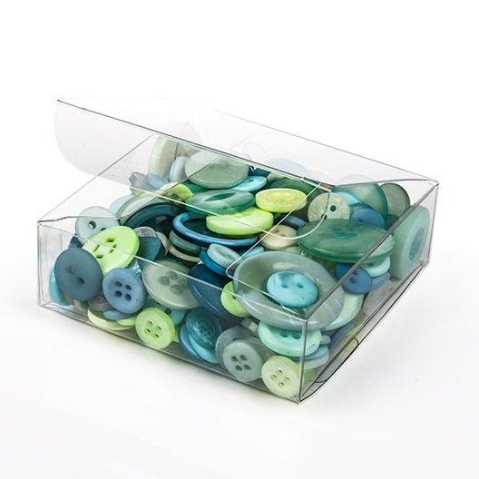 """3"""" x 3"""" x 1"""" Crystal Clear Value Boxes (50 Pieces)"""