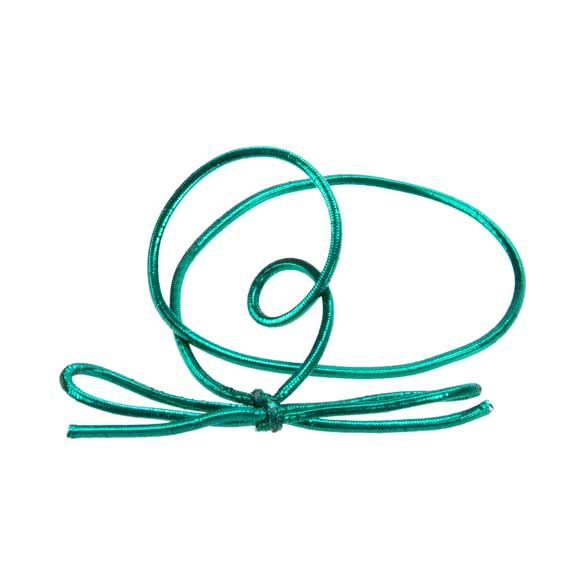 "10"" Metallic Green Stretch Loop (50 Pieces)"