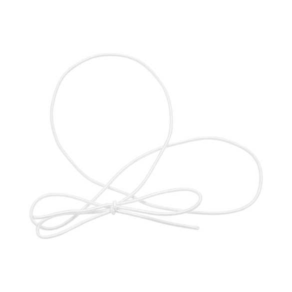 """16"""" Solid White Stretch Loop (50 Pieces)"""