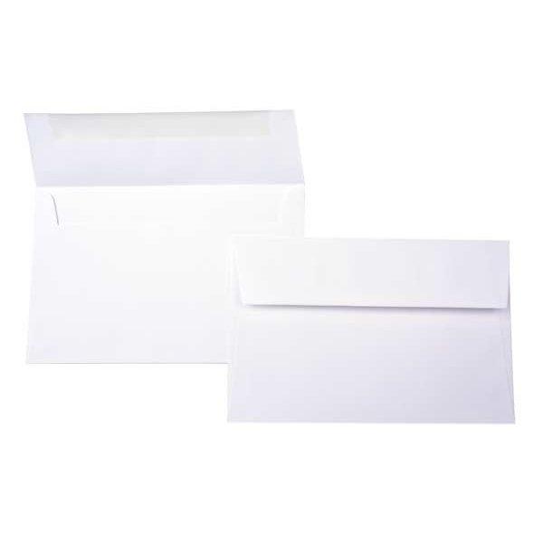 "A6 6 1/2"" x 4 3/4"" Bright Envelope White (50 Pieces)"